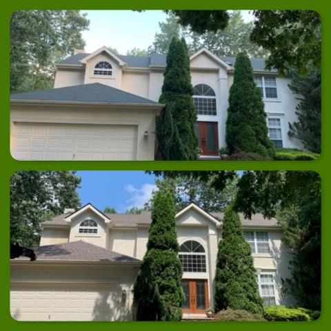 Monroe Township, NJ - Roof installation before and after, this roof replacement used GAF Timberline HD Mission Brown shingles.
