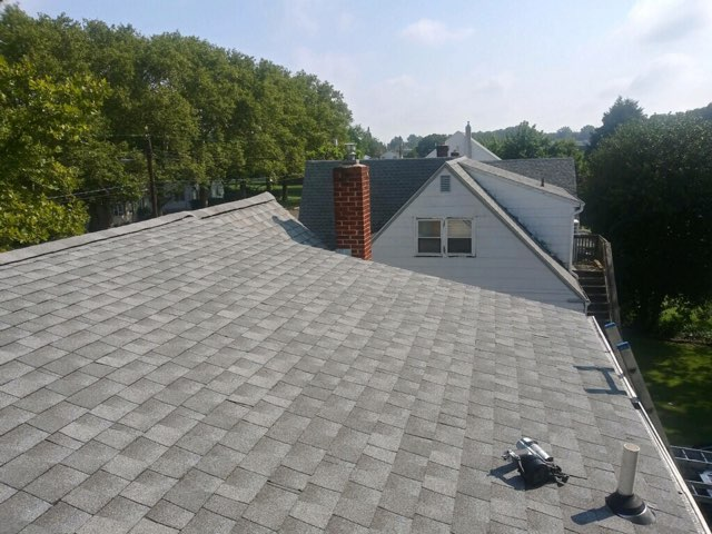 Carneys Point Township, NJ - Partial roof replacement using GAF Timberline HD Fox Hollow Gray shingles.