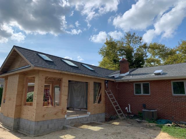 Pitman, NJ - New addition roof installation completed using GAF Timberline HD Pewter Gray shingles.
