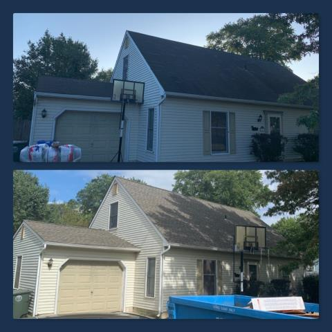 Glassboro, NJ - Completed roof replacement using GAF Timberline Weathered Wood Blend shingles.