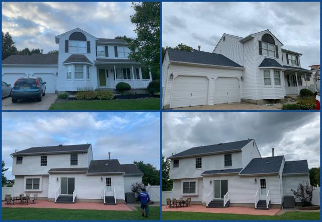 Mullica Hill, NJ - Completed roof replacement using GAF Timberline Biscayne Blue shingles.