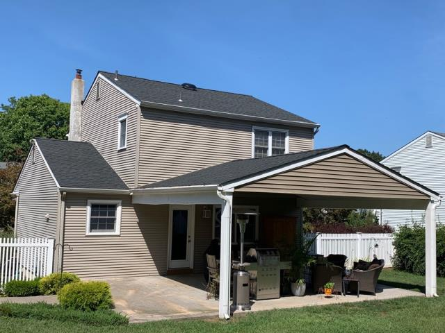 Gloucester Township, NJ - Completed roof replacement using GAF Timberline Charcoal shingles.