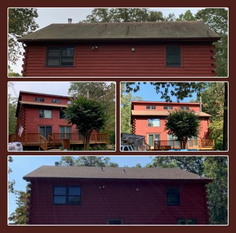Monroe Township, NJ - Before and after pictures of this complete roof replacement using GAF Timberline HD shingles in Shakewood.