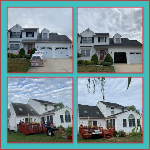 Mullica Hill, NJ - New roof replacement using GAF Timberline HD shingles in Charcoal.