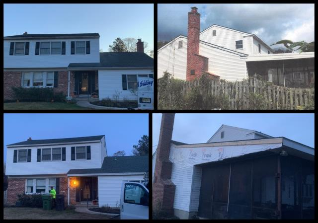 Monroe Township, NJ - Complete roof replacement using GAF Timberline Slate shingles.