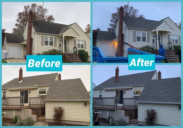 Mount Ephraim, NJ - Completed roof installation using GAF TImberline Weathered Wood shingles.