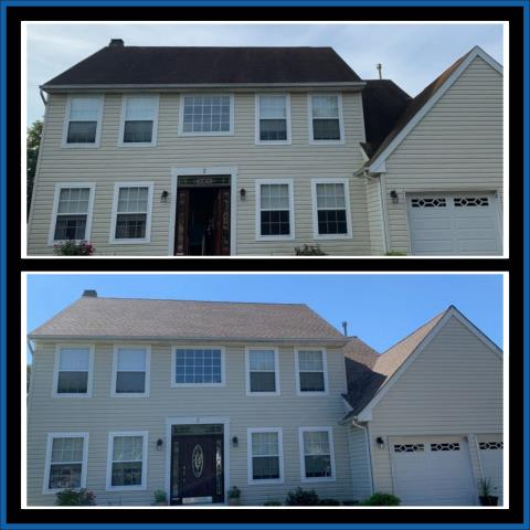 Laurel Springs, NJ - Creating curb appeal. This roof replacement was completed using GAF Timberline HDZ Shakewood shingles.