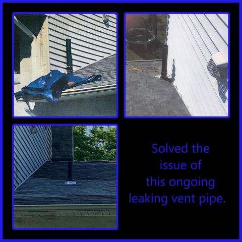 Washington Township, NJ - We were contacted about an ongoing leak at a vent pipe. The homeowner told us several people had tried to fix it. We proposed to relocate the pipe away from the wall so that is could be properly flashed. #kmrsllc #roofrepair #Washingtontwpnj