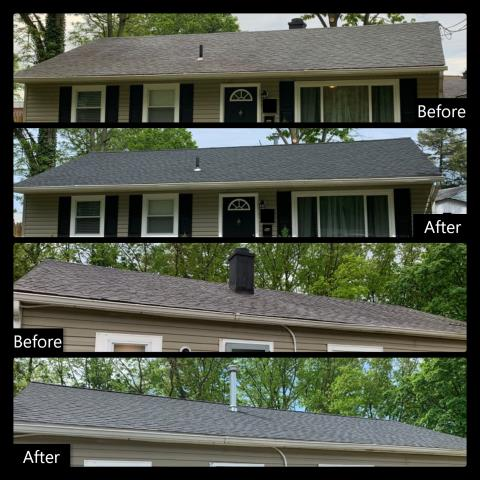 Westville, NJ - This new homeowner wanted no issues with this roof. We replaced the roof with a new GAF Timberline HDZ roof system in Charcoal. The old chimney was also replaced with a new heat stack for the new system in the home.