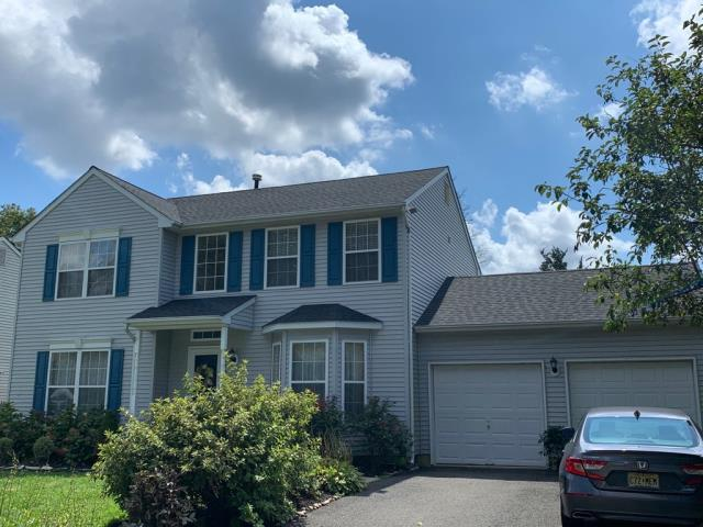 Sicklerville, NJ - Complete roof replacement with System Plus factory warranty using GAF Timberline HDZ Charcoal shingles.