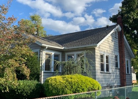 Logan Township, NJ - Complete roof replacement using GAF Timberline HDZ shingles in Weathered Wood.