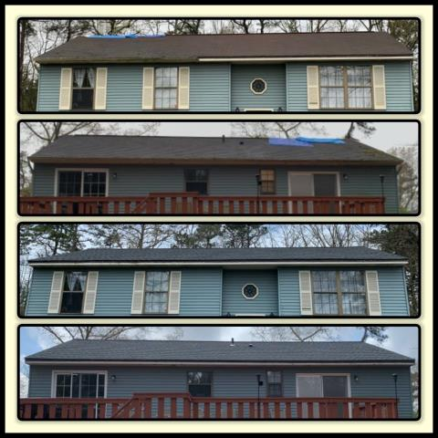 Franklin, NJ - We were called because of losing ridge caps on a 20+ year old roof. It was determined that due to the age of the roof a full roof replacement was best. The roof was replaced using GAF Timberline HDZ shingles in Pewter Gray.