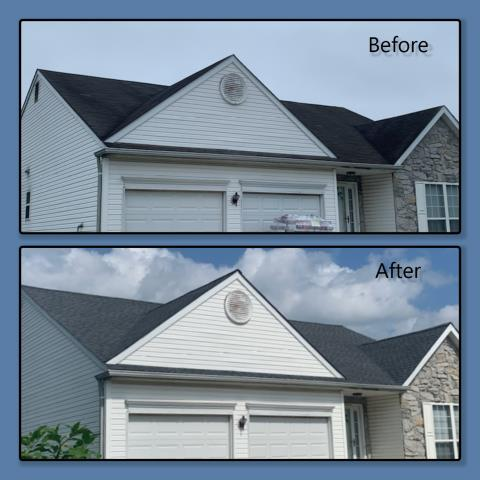 Clayton, NC - This roof replacement was completed using GAF Timberline HDZ shingles in Pewter Gray.