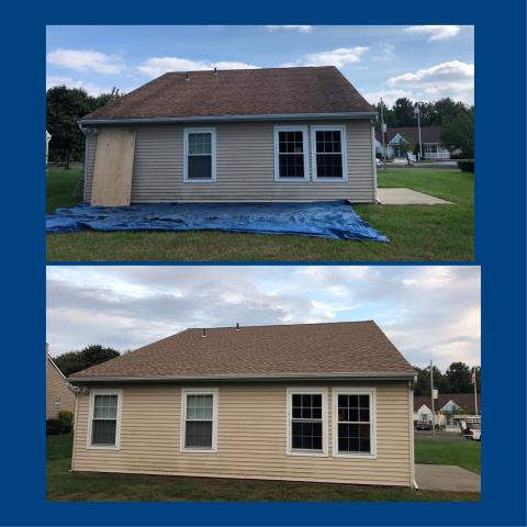 Deptford Township, NJ - No more roof stains or roof leaks with a new roof installed using GAF Timberline Shakewood shingles.