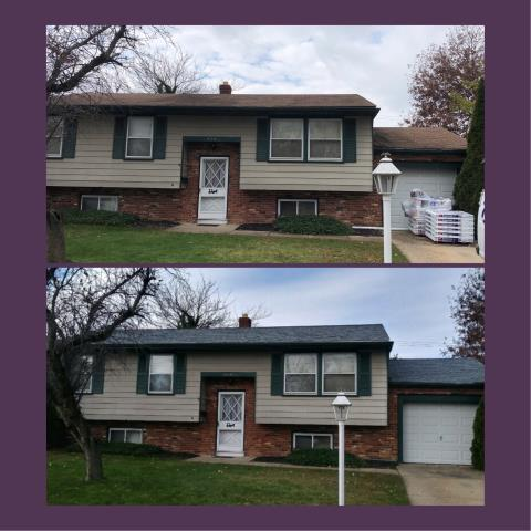 Woodbury Heights, NJ - Before and after pictures of roof installation using GAF Timberline Oyster Gray shingles.