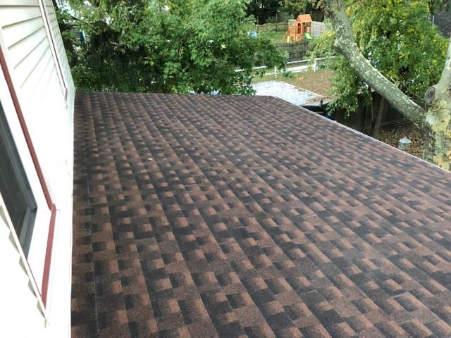 Pitman, NJ - Partial roof replacement using GAF Timberline Hickory shingles.
