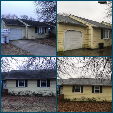 Pennsville, NJ - Completed roof installation using GAF TImberline roof system and Slate shingles.