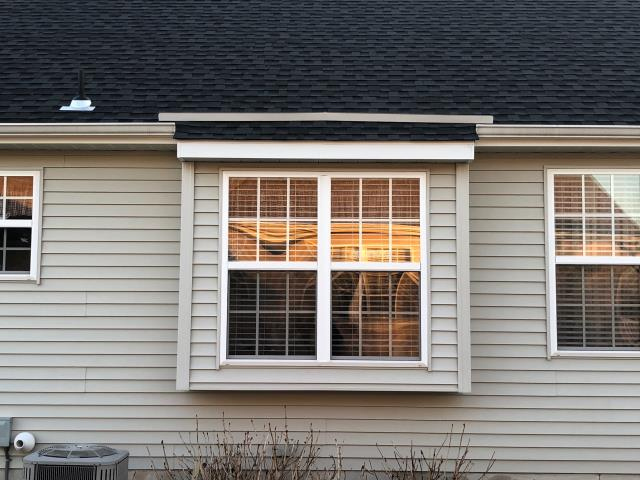 Mantua Township, NJ - Completed repair, installed new diverter over window.