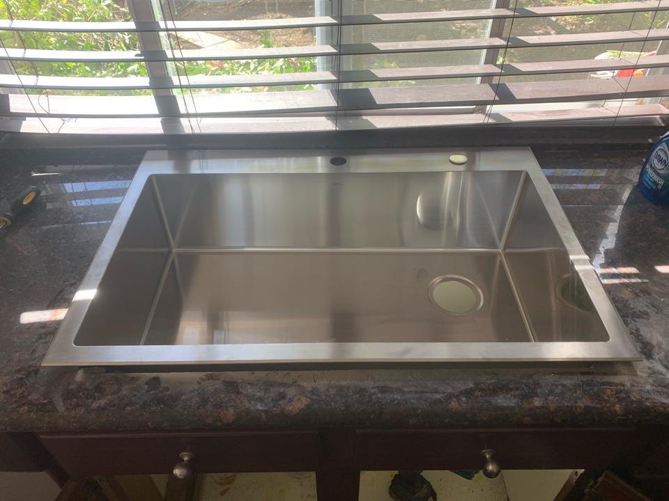 Rancho Santa Margarita, CA - Sink installation faucet installation garbage disposal installation toilet installation call Drain Town Rooter