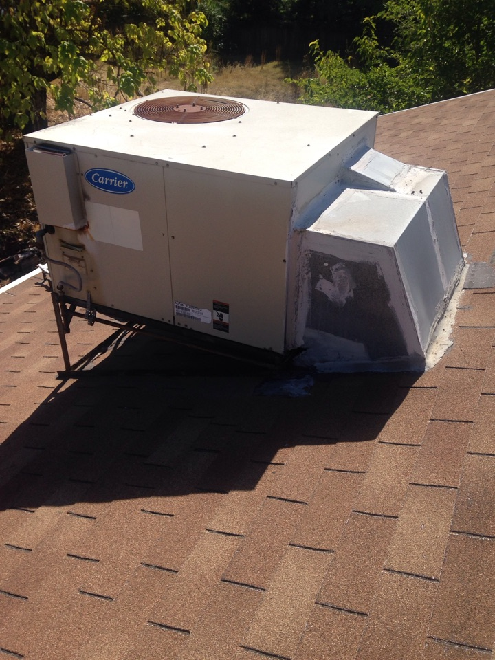 Orangevale, CA - Heating and cooling repair installation and tune up service on a carrier