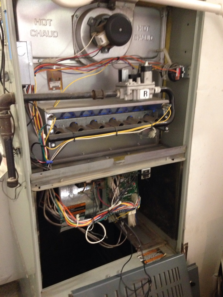 Rocklin, CA - Heating and air conditioning installation repair and tune up on an American standard system