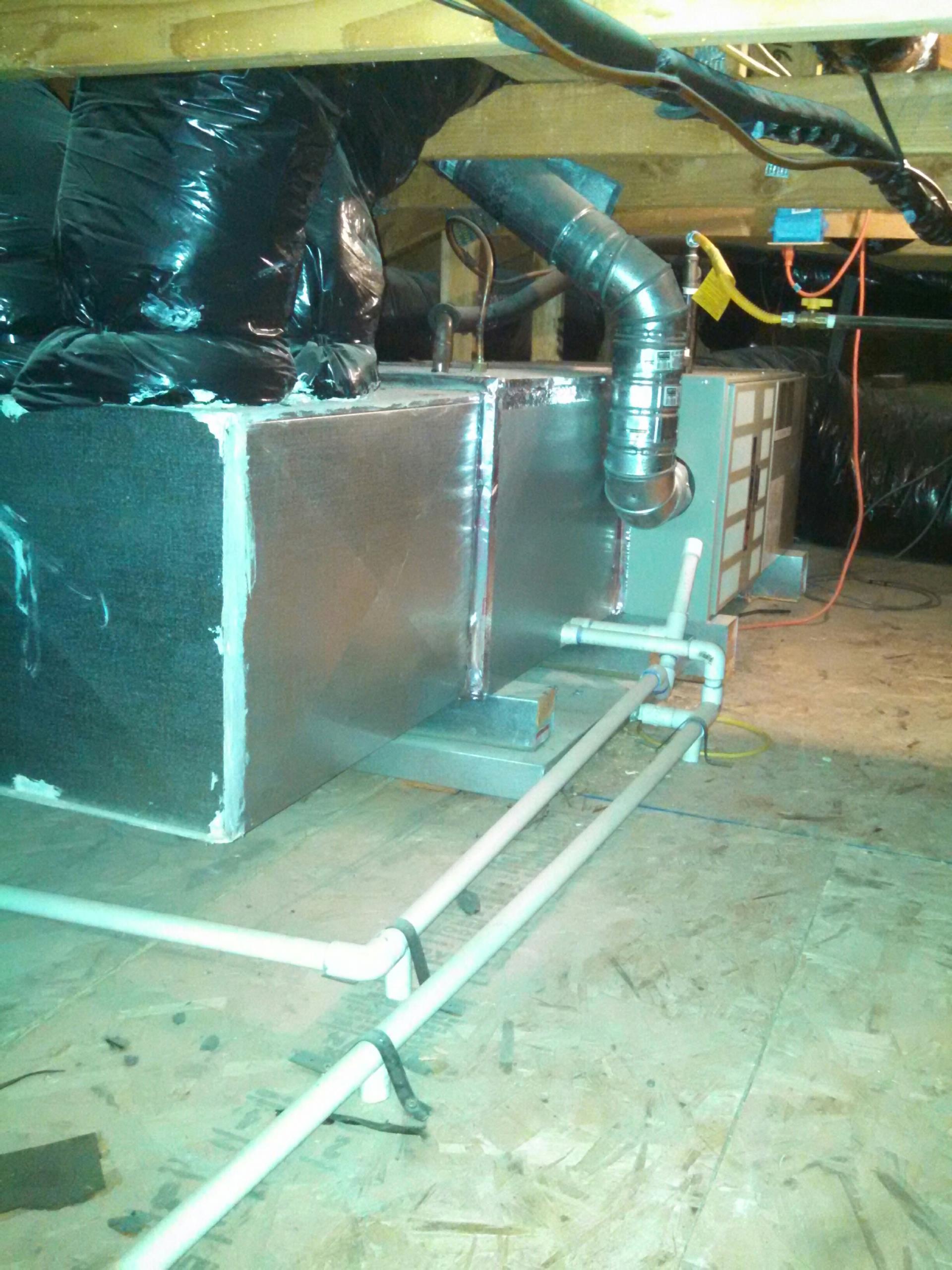 Folsom, CA - trane heater service in the attic