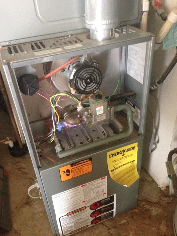 Rocklin, CA - Heat maintenance on rheem equipment.