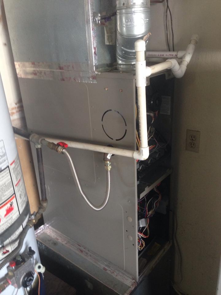 Citrus Heights, CA - Goodman furnace in garage maintenance.