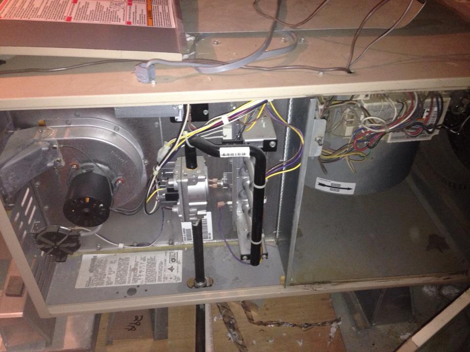 Roseville, CA - York furnace in attic maintenance.