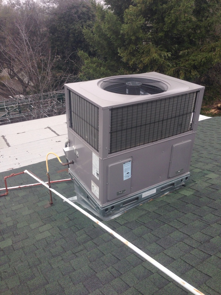 Auburn, CA - Day and night rooftop unit maintenance.