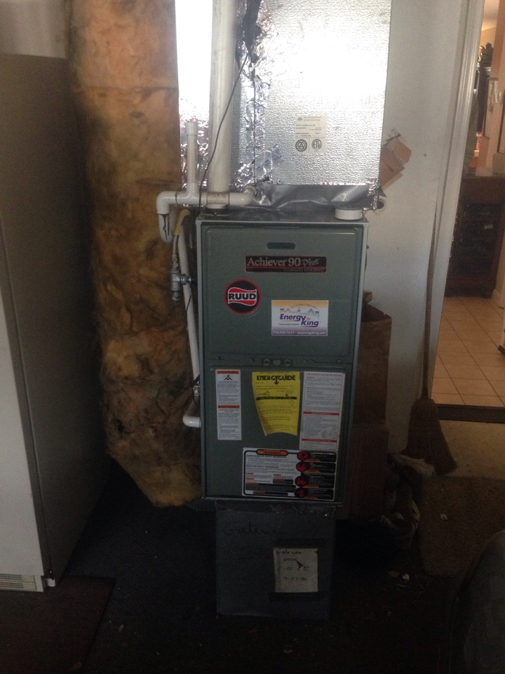 Fair Oaks, CA - Rheem unit no Heat. Replace tstat.