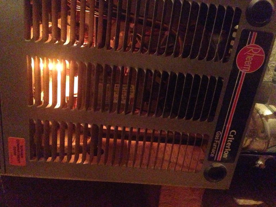 Lincoln, CA - Maintenance on Rheem furnace in attic.