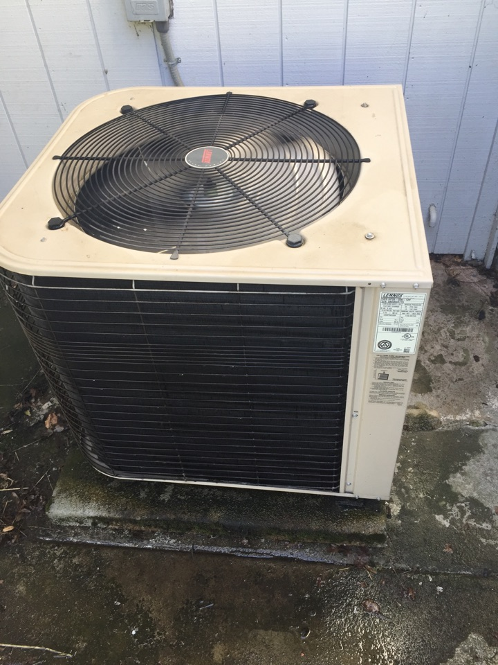 Cameron Park, CA - Maintenance on Lennox heat pump.