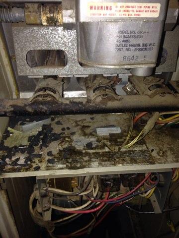 Yuba City, CA - Furnace repair on a Rheem split system in the closet