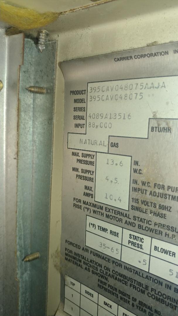 Sacramento, CA - I'm working on a 28 yrs. Payne furnace located on Sacramento, Ca
