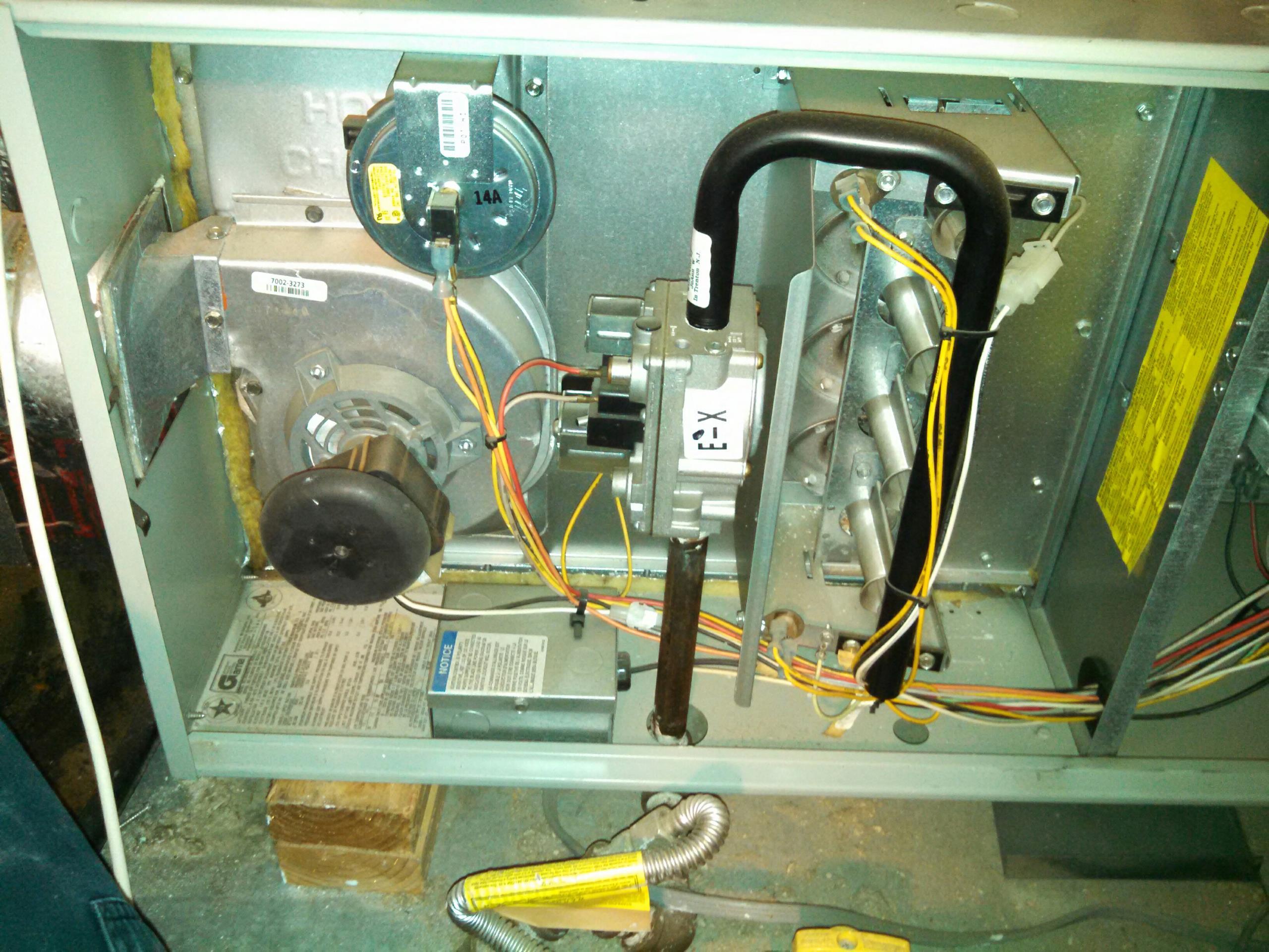 Orangevale, CA -  Preformed maintenance on a high efficient Trane System.