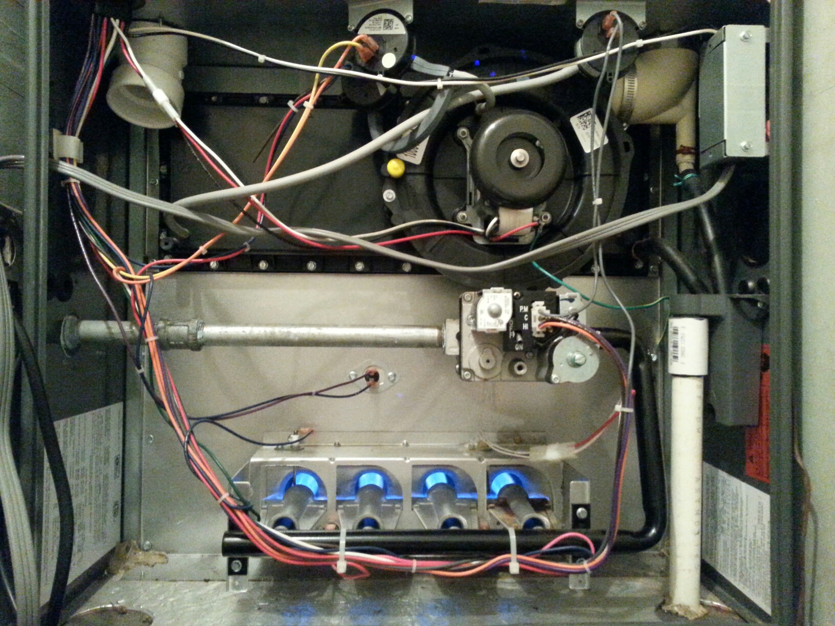 Orangevale, CA - Heater maintenance on a day and night furnace