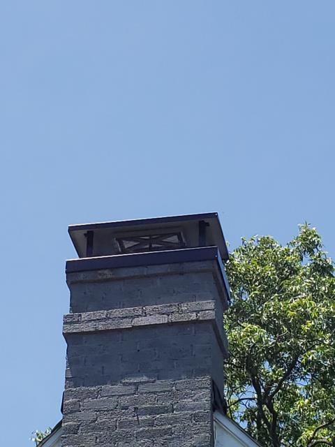 McKinney, TX - Chimney Cap, Top Mounted Damper, Mortar Crown Rebuild