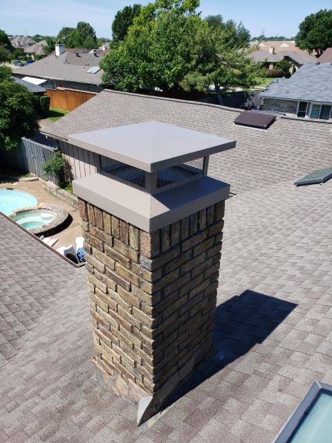 Plano, TX - Mortar Crown Overlay, Tuck Pointing, Chimney Cap