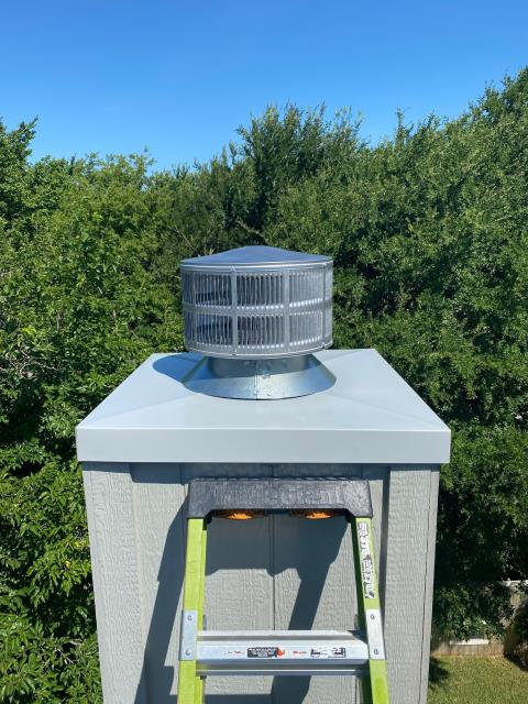 Flower Mound, TX - Chimney Pan/Spark Arrestor