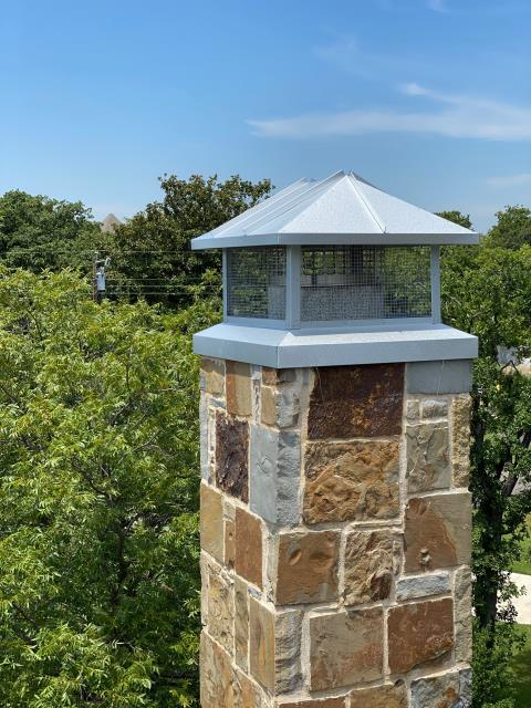 Colleyville, TX - Custom Chimney Caps