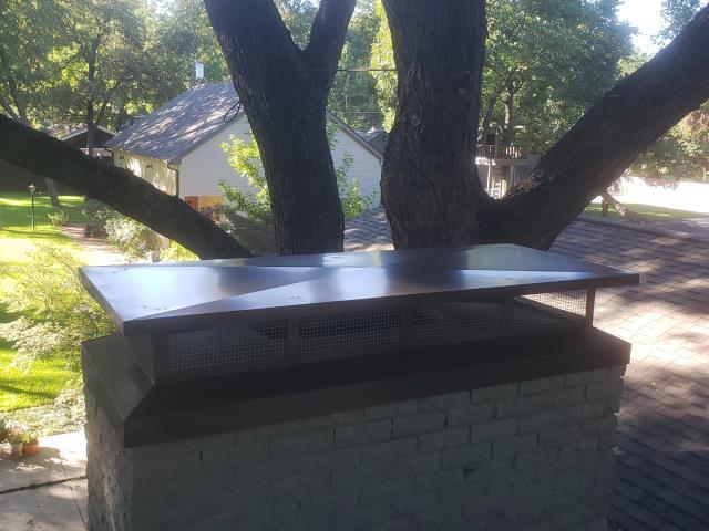 Dallas, TX - Mortar crown rebuild, chimney cap