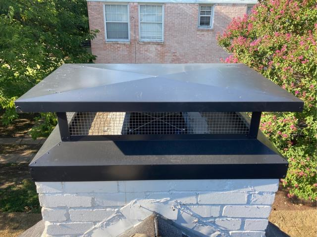 Dallas, TX - Chimney cap and top mounted damper