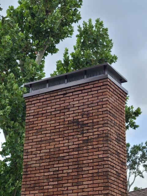 Dallas, TX - Chimney Cap, Brick Repair