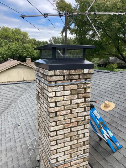 Richardson, TX - Chimney Cap/ Mortar Crown Overlay