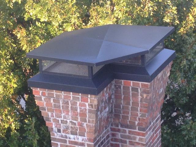 Frisco, TX - Chimney cap installed