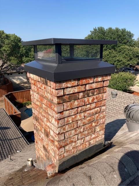 Richardson, TX - Chimney Cap/Mortar Crown Overlay
