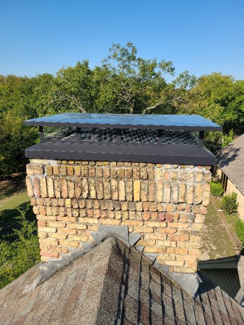 Allen, TX - Chimney Cap/Mortar Crown Repair