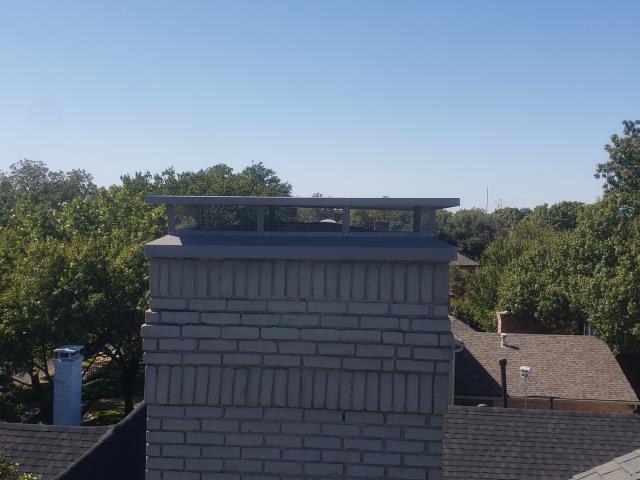 Dallas, TX - Chimney Cap/Mortar Crown Overlay