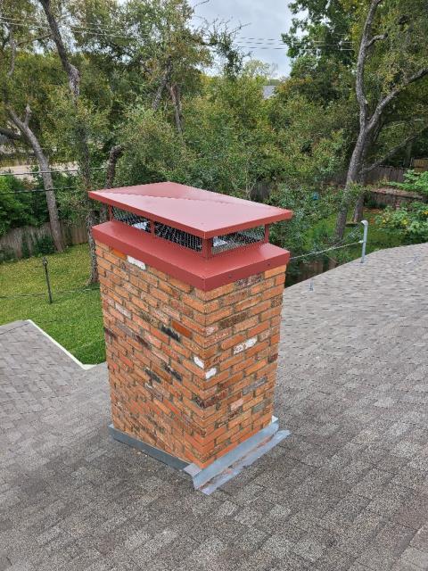 Dallas, TX - Chimney Rebuild/Top Mounted Damper/Chimney Cap